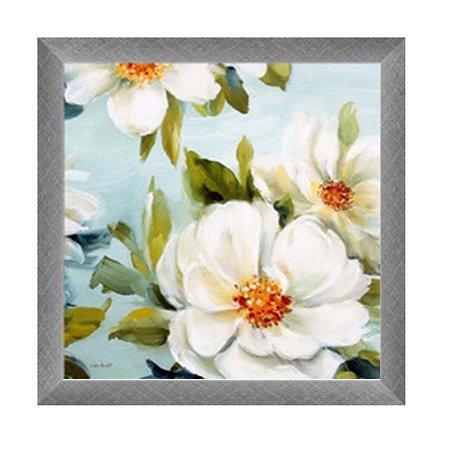 Quadro flores brancas A