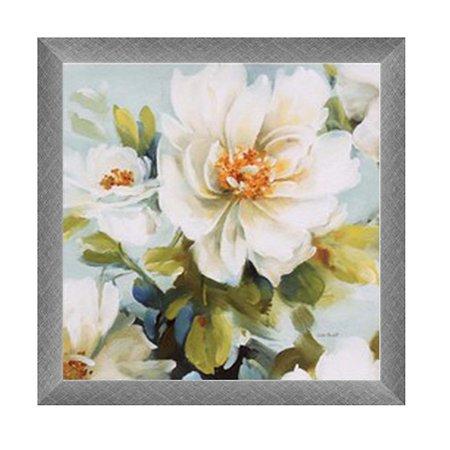 Quadro flores brancas B