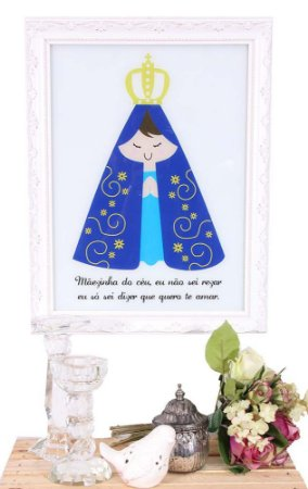 Quadro santinha Nossa Senhora Aparecida