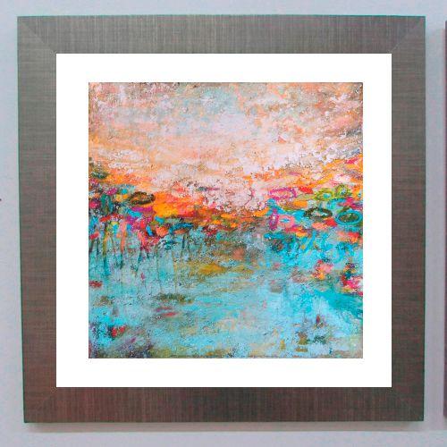 Quadro abstrato cores