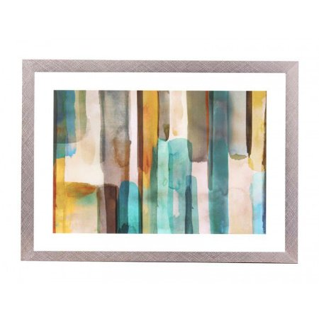 Quadro abstrato aquarelado