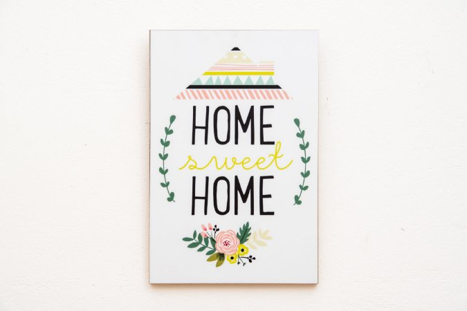 Placa MDF Home sweet Home