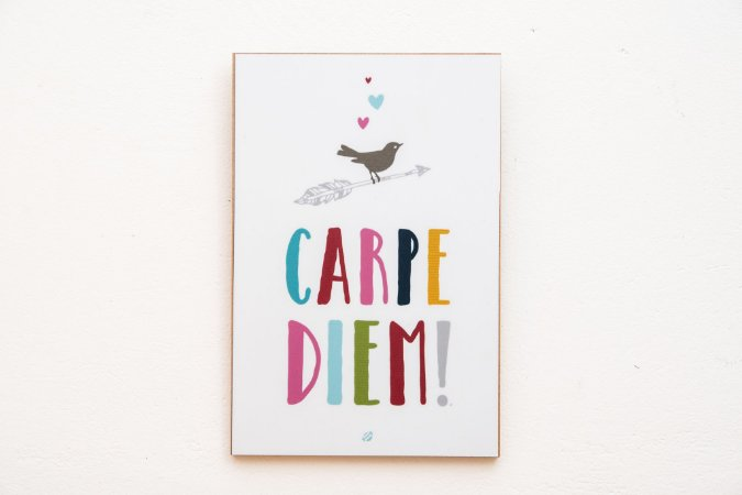 Placa MDF Carpe Diem