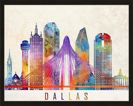 Quadro cidade colorida Dallas