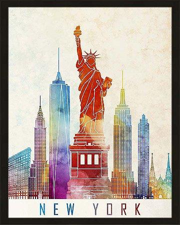 Quadro cidade colorida New York