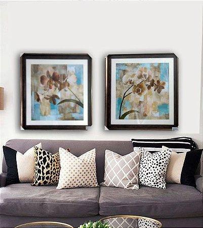 Orquídeas com tons azul (par)