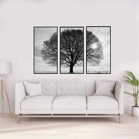 Quadros árvore 3 em 1 medida 50 cm L x 93 cm A cada
