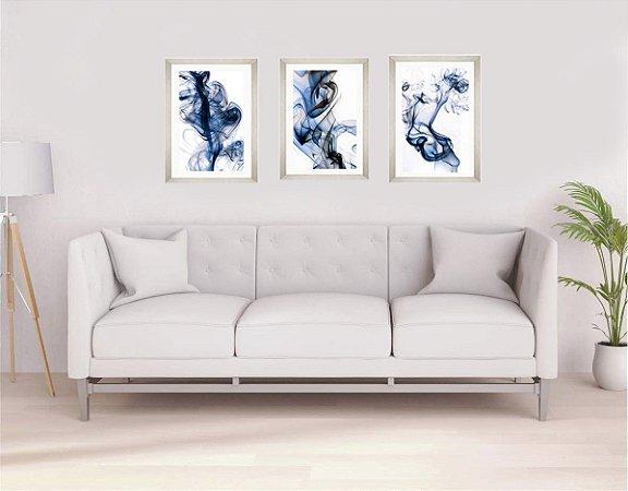 Quadros abstratos medida 53 cm L x 73 cm A