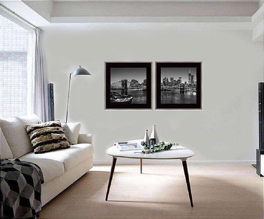 Quadros Kit cenas urbanas ponte Manhattan medida 63 cm x 63 cm cada