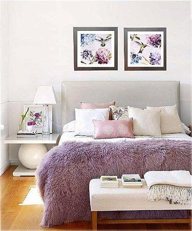 Quadros beija flores medida 57 cm x 57 cm