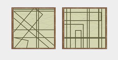 Quadros abstrato conjunto 2 peças