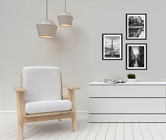 Porta retrato para foto 30 x 40 medida externa 40 x 50 com vidro e moldura branca ou preta
