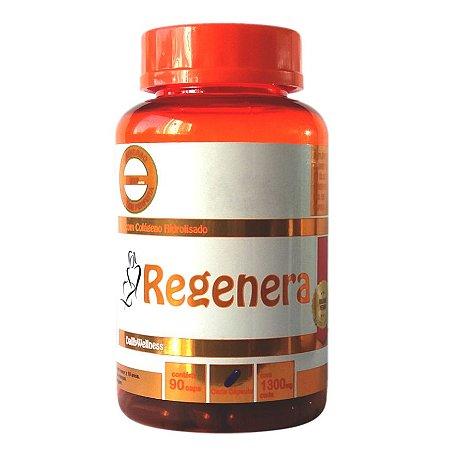 Regenera Colágeno Hidrolisado - 90 Cápsulas,  Cada cápsula contém 1300 mg