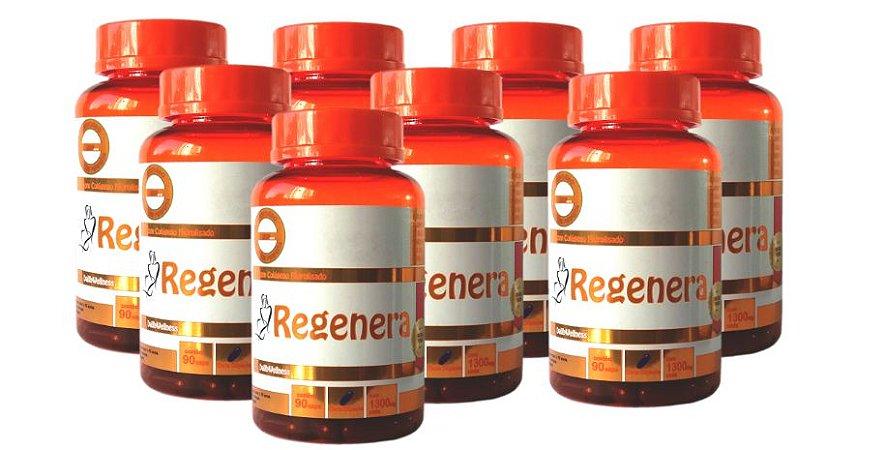 Regenera Colágeno Hidrolisado - 8 Frascos com 90 Cápsulas, Cada cápsula contém 1300 mg
