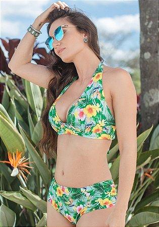 Biquíni Plus Size Cortinão Green Floral