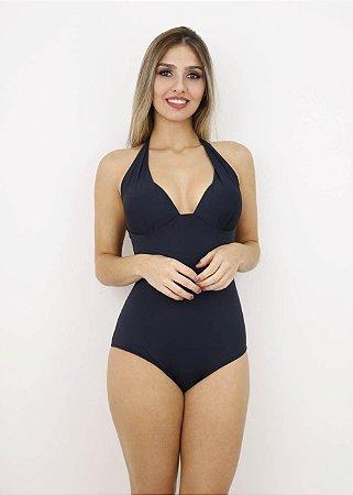 Maiô Plus Size Bojo Cortinão Preto
