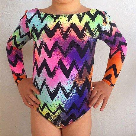 Body Infantil Proteção UV - Chevron Color