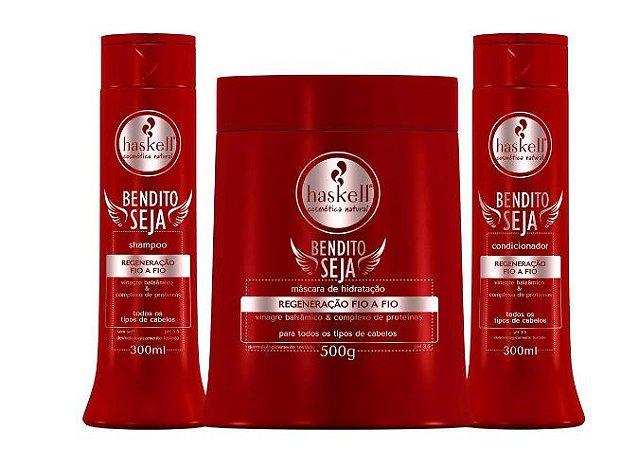 Kit Bendito Seja Haskell Máscara 500g Shampoo E Condicionador 300ml