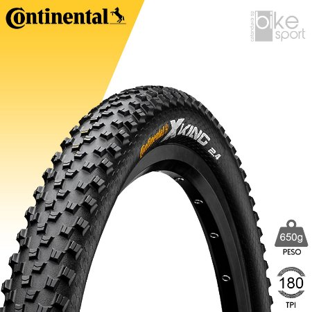 PNEU CONTINENTAL X-KING 29X2.4 - PRETO/DOBRAVEL