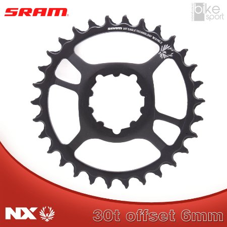 COROA SRAM NX EAGLE) DIRECT MOUNT 30T 6MM OFFSET PRETA