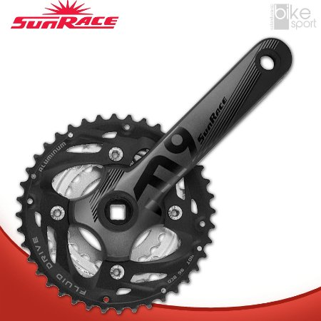 PEDIVELA SUNRACE M910 PRETO 175MM 40/30/22D