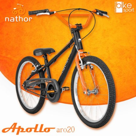 Bicicleta Aro 20 Apollo Preto e Laranja