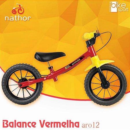 Bicicleta Balance Fast Vermelho e Amarelo