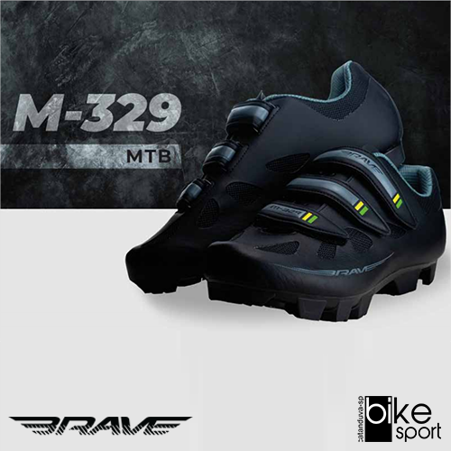 SAPATILHA MTB M-329 TAM 38 PRETO/VERDE/AMARELO (CM28015A-38)