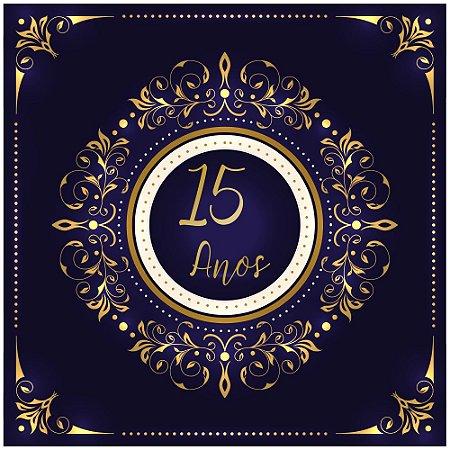 Pista de Dança 15 Anos Gold Royal - Sem Personalização