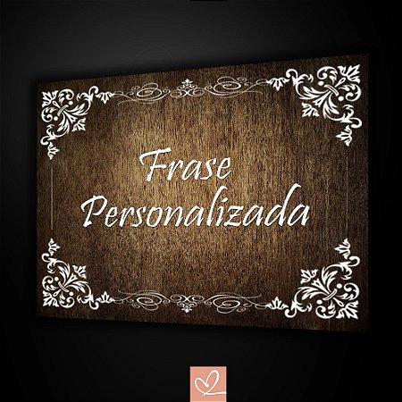 Placa Rústica Personalizada para Casamento  em PVC 2mm 25cm x 30cm