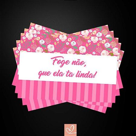 Kit Placa Para Entrada da Noiva Rosas em PVC 2mm