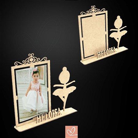 Porta-Retrato Bailarina  Personalizado em MDF CRU