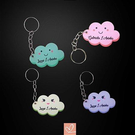 Chaveiros Lembrança Nuvem Personalizado em MDF Colorido