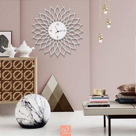 Relógio em Madeira Mandala Moderno