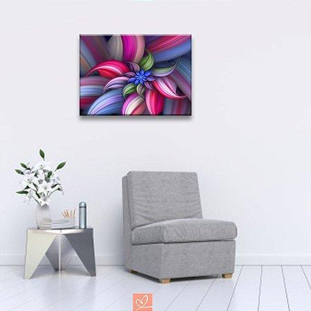 Quadro em Tela Canvas Flor de Lótus Abstrato