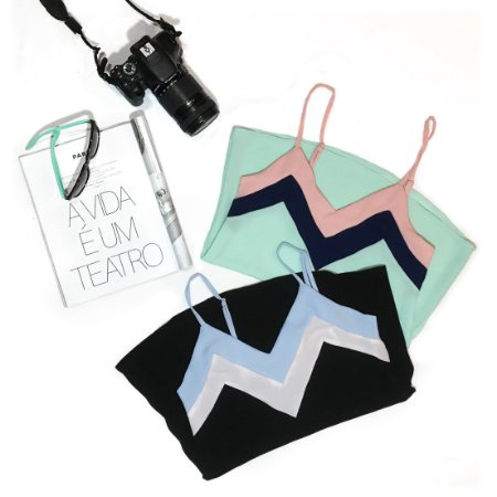 Blusa Candy Black and Blue