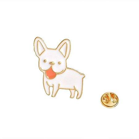 Botton Bulldog branco