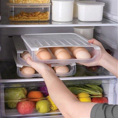 Porta Ovos prático Pegue um ovo os outros rolam para frente