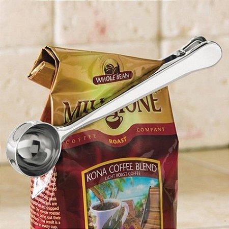 Colher Medidora Prendedor Para Café Chá Medida Certa em Inox