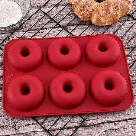 Forma para Mini Donuts Pudins em Silicone 6 Cavidades