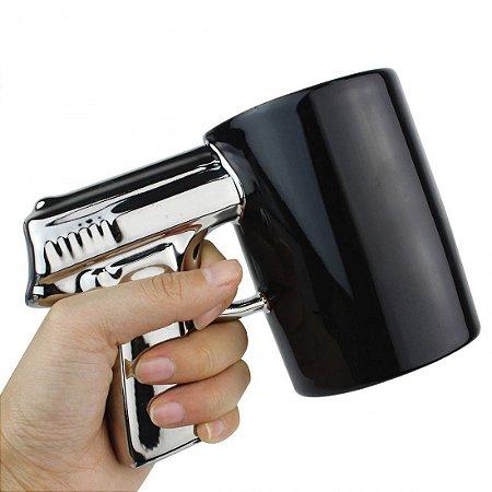Caneca Pistola Glock - preta