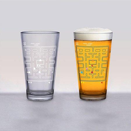Copo de vidro térmico Pac-Man