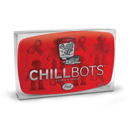 Forma de gelo em silicone Robô - Chillbots