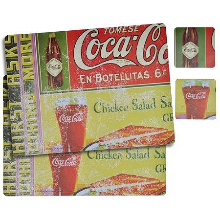 Jogo Americano Coca-Cola En Botellitas - 4 peças