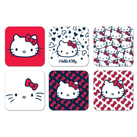 Porta Copos Hello Kitty Classical Faces - set com 6