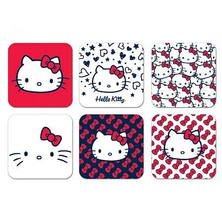 Porta Copos Hello Kitty Classical Faces - set com 6