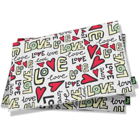 Jogo Americano Textura Love - 2 peças
