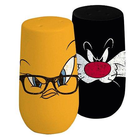 Saleiro e Pimenteiro Looney Tunes Piu-Piu e Frajola