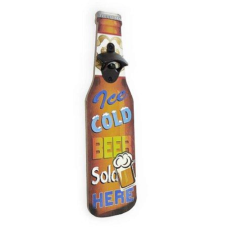 Abridor de Garrafa de Parede Ice Cold Beer Sold Here