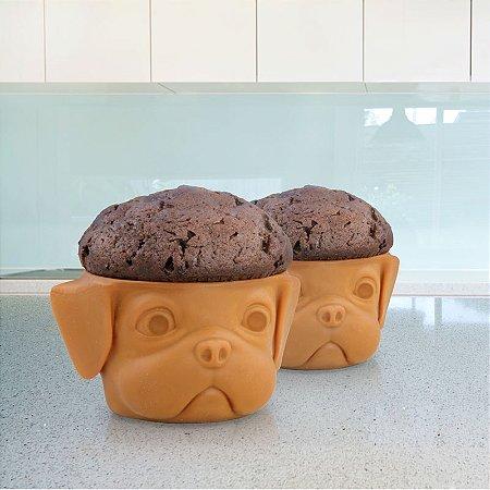 Forma de Cupcake Pug - Pup Cakes - 2 unidades